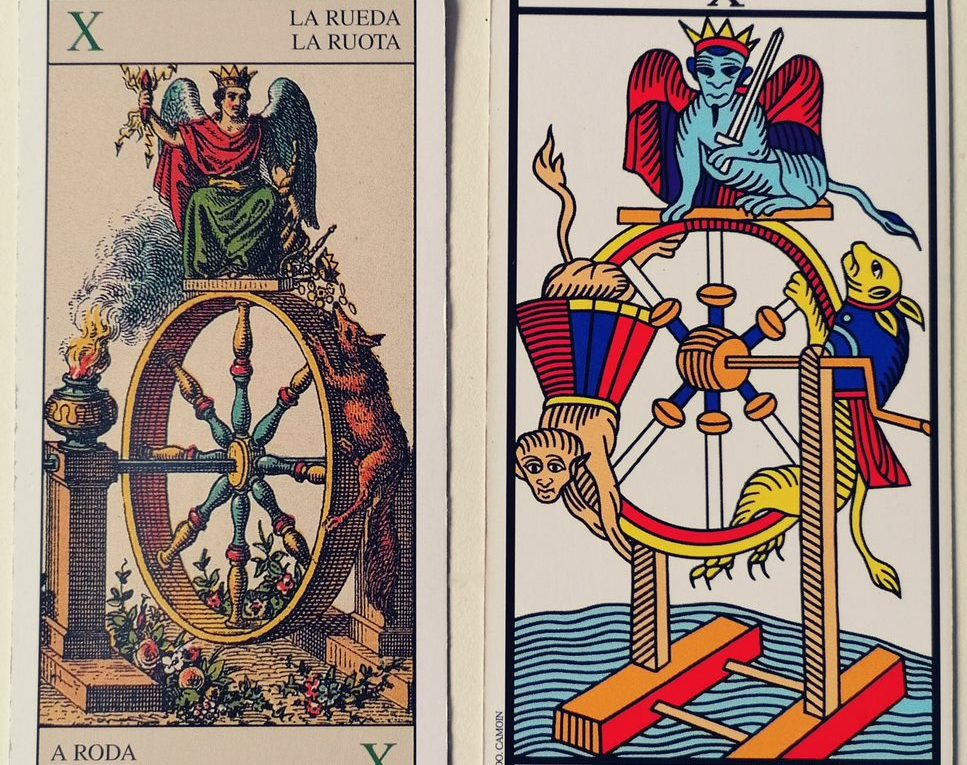 Two different representations of the Wheel of Fortune